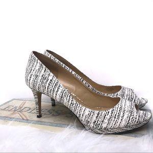 Enzo Angiolini Black & White Heels Size 11
